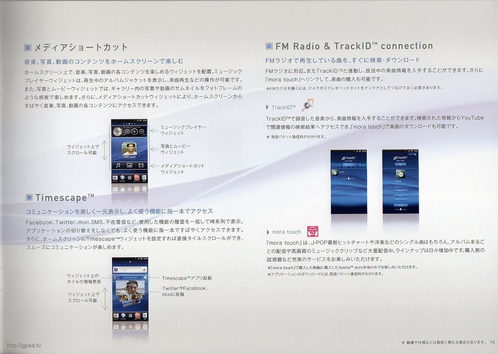 Xperia acro SO-02C Page13