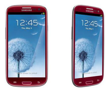 Galaxy S III レッドカラー