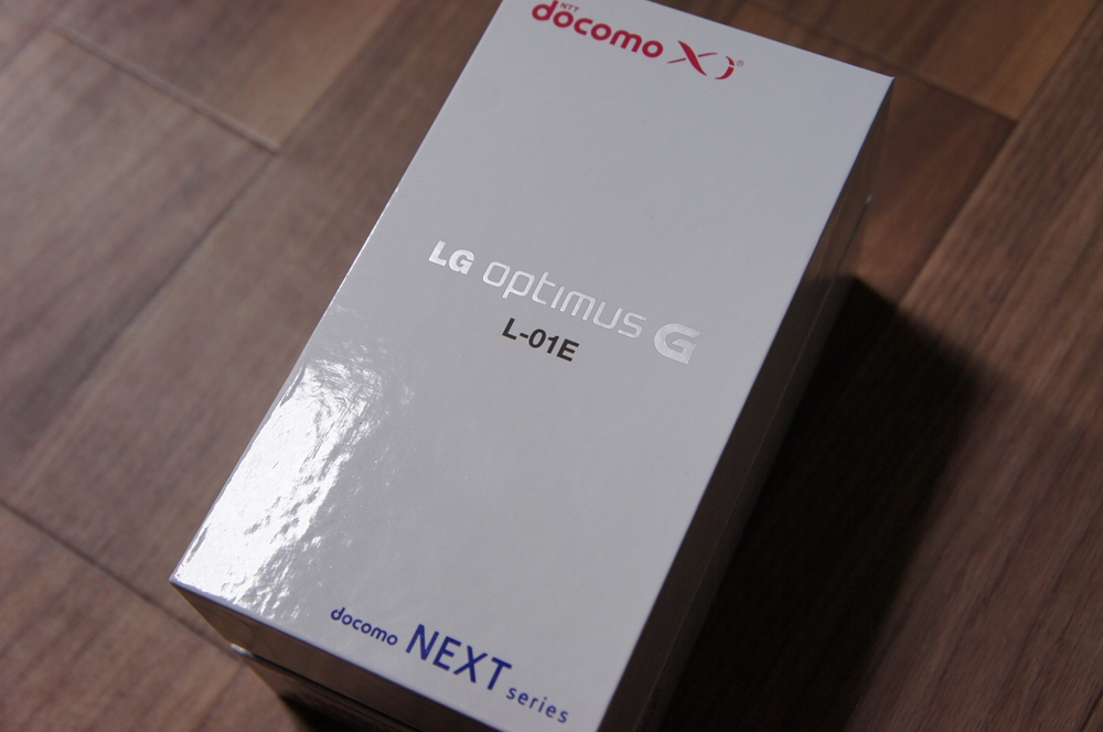 Optimus G L-01E開封レビュー