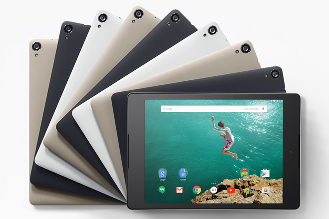 HTC NIPPONがNexus 9の日本発売について発表、16GB Wi-Fiモデルは39,900円