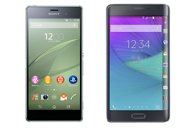 ドコモとauの「Xperia Z3」「GALAXY Note Edge」が本日発売