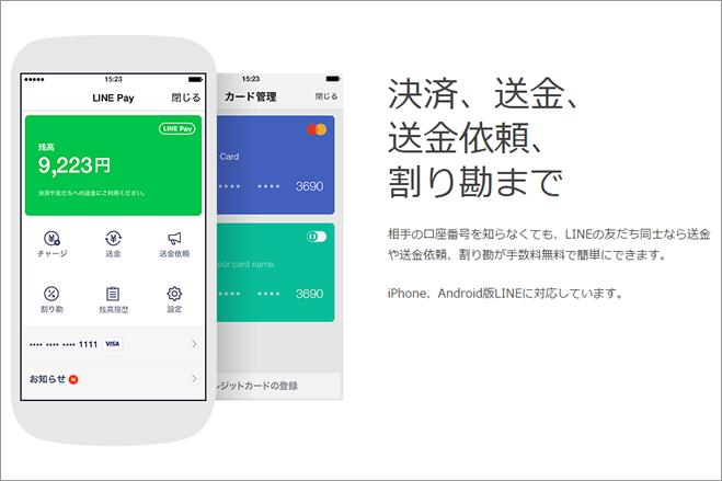 LINEアプリを使ってユーザー間での送金や割り勘、店舗への支払いができる「LINE Pay」がスタート